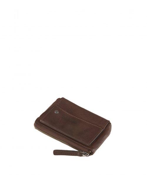 atlas / portamonedas piel lavada marrón -