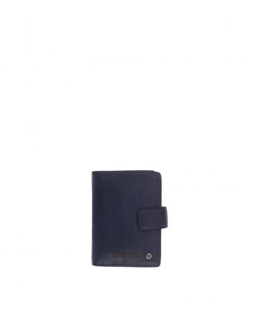 atlas / tarjetero piel lavada azul 1