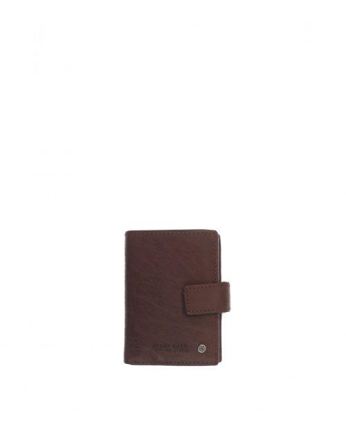 atlas / tarjetero piel lavada marrón 1