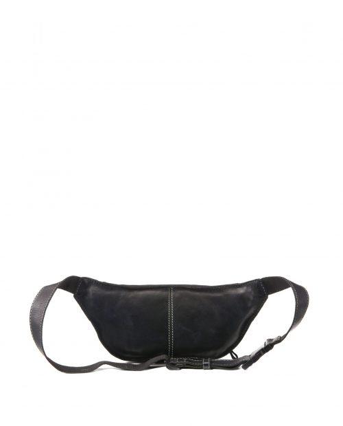 tichi 119 / riñonera piel lavada negra -