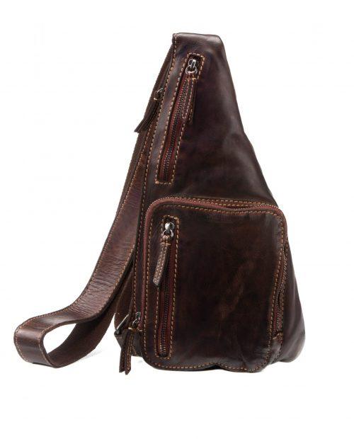 mochila cruzada tichi marrón