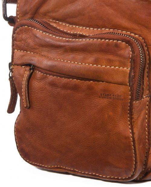 tichi 123 / bandolera piel lavada cuero -