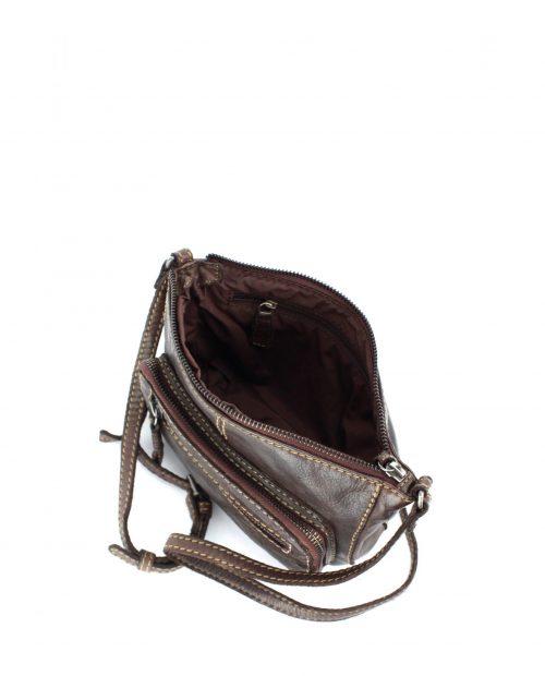 nova 5555 / bolso mini piel lavada marrón -