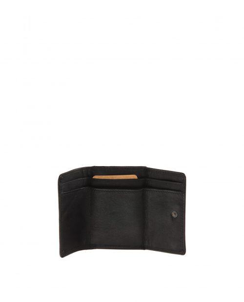 atlas / billetero mini piel lavada negro -