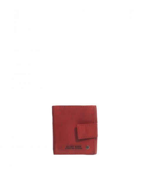 billetero mini piel lavada rojo hombre atlas