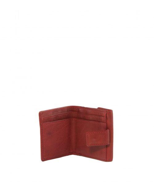 atlas 49 / billetero mini piel lavada rojo -