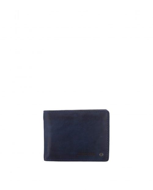 billetero americano con monedero piel lavada azul hombre atlas