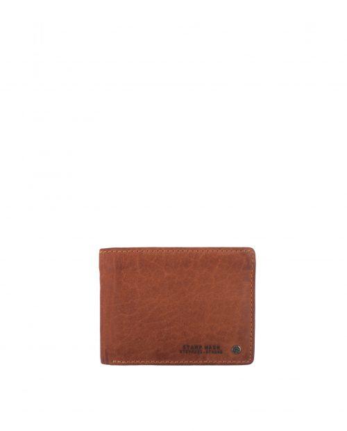 billetero americano con monedero piel lavada marrón cuero hombre atlas