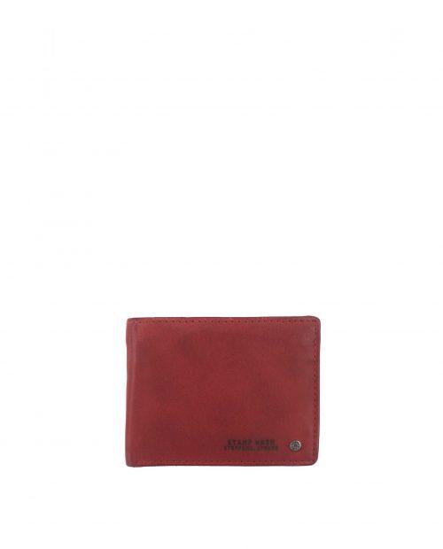 billetero americano piel lavada rojo con monedero hombre atlas