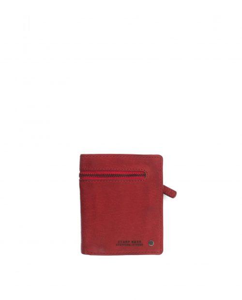billetero vertical hombre piel lavada rojo atlas