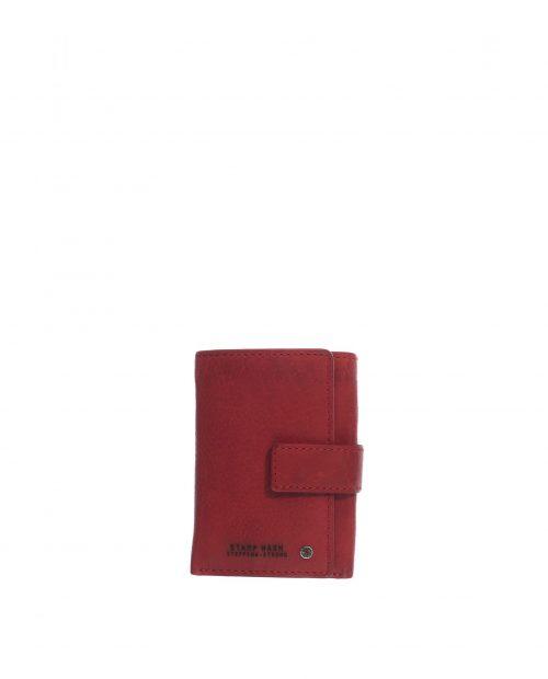 billetero piel lavada rojo con monedero exterior atlas