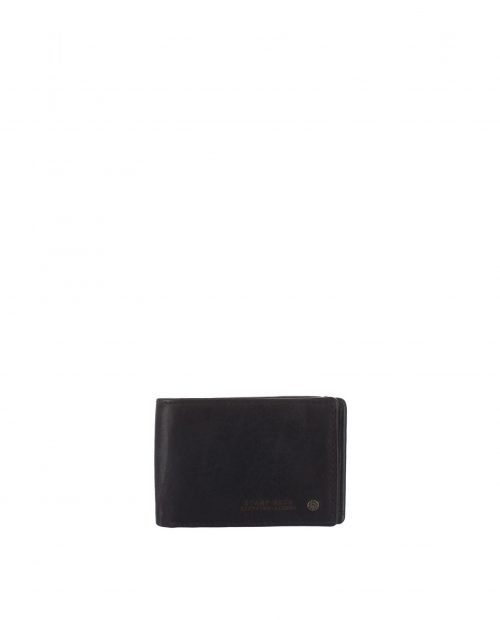 billetero americano con monedero piel lavada negro