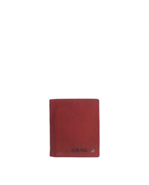 billetero vertical piel lavada rojo