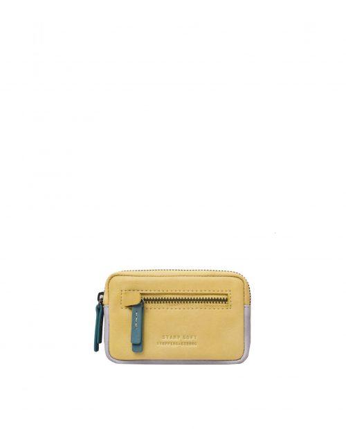 betel 33305 / portamonedas piel lavada amarillo 1