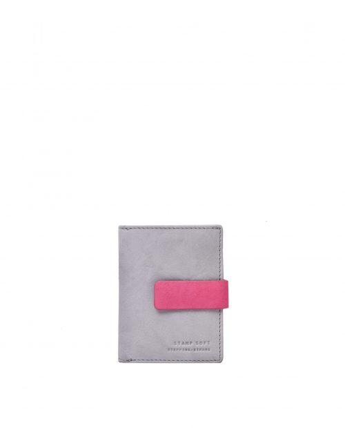 betel 33312 / billetero piel lavada gris 1
