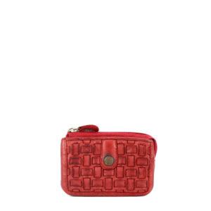 maia 42713 / monedero piel trenzada rojo 2