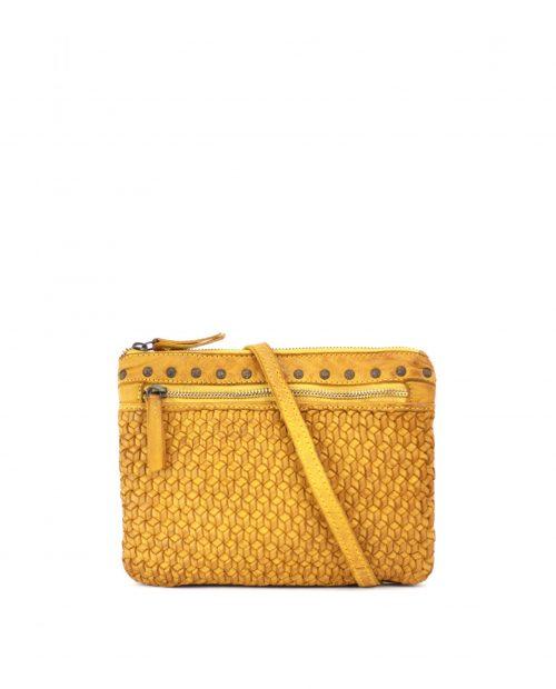 vega 7651 / bolso mini trenzado piel lavada mostaza 1
