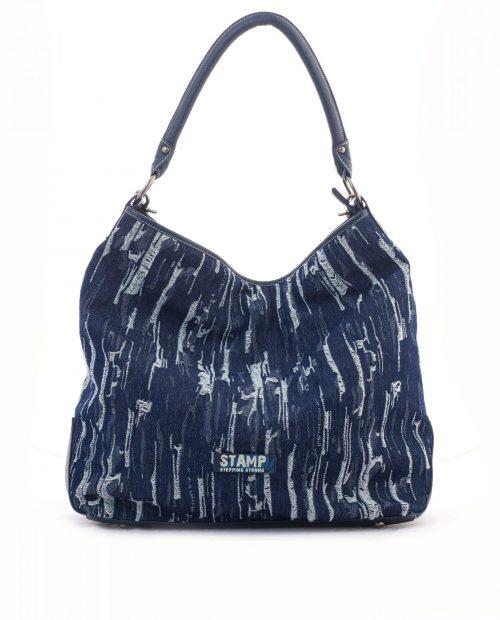 bolso góndola grande lona vaquero azul adhara