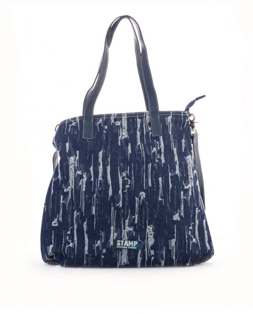 bolso shopping lona vaquero azul adhara