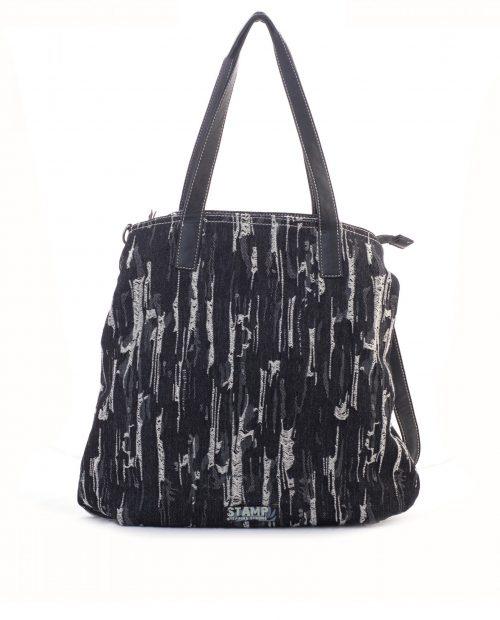 bolso shopping lona vaquero negro adhara