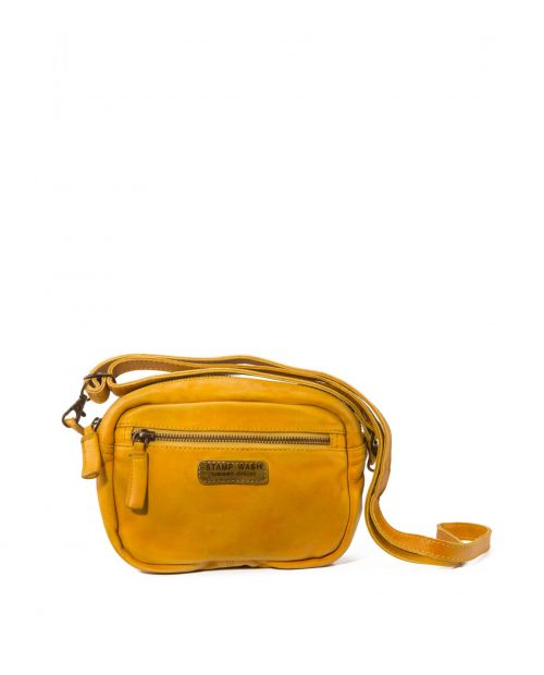 bolso bandolera mini piel lavada amarillo vela