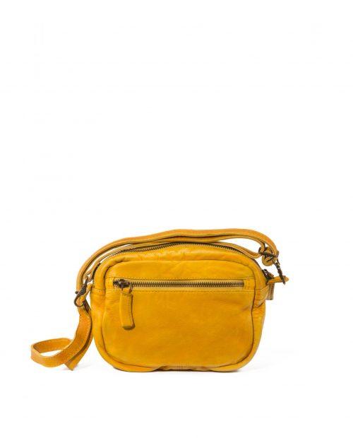 vela 9750 / bolso mini piel lavada amarillo -
