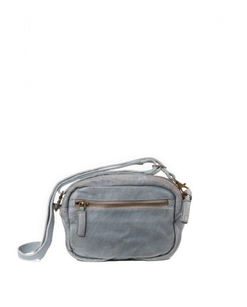 vela 9750 / bolso mini piel lavada gris -