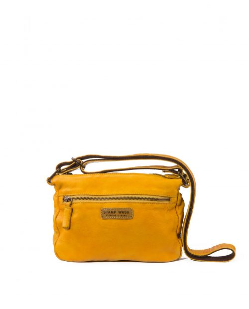 bolso bandolera piel lavada amarillo vela
