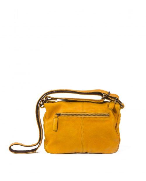 vela 9752 / bolso piel lavada amarillo -