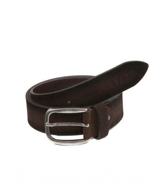 -Cinturón de hombre Stamp en piel marrón-CIST21800MA