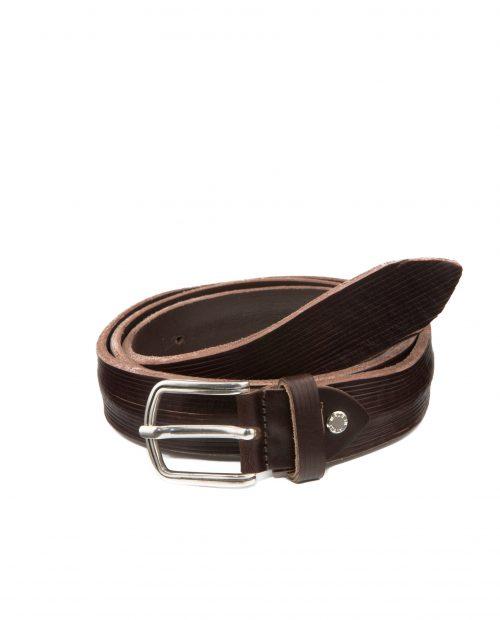 Cinturón de hombre Stamp en piel marrón-CIST21808MAX