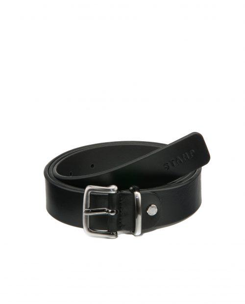 Cinturón de hombre Stamp en piel negra-CIST21809NEN