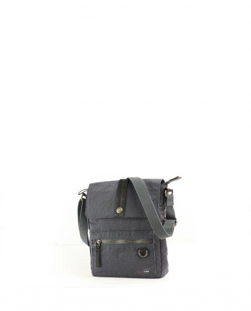 ALTAIR Bolso bandolera de hombre Stamp en nylon lavado color azul BHST04953AZ STAMP 1