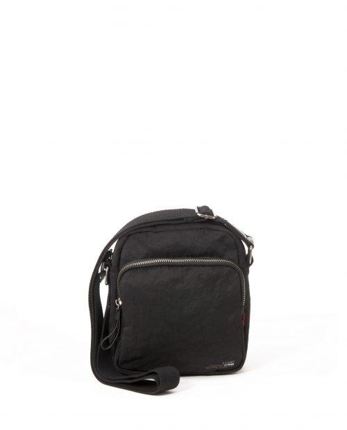 ALTAIR-Bolso bandolera de hombre Stamp en nylon lavado color negro-BHST04948NE-STAMP
