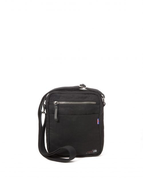 ALTAIR-Bolso bandolera de hombre Stamp en nylon lavado color negro-BHST04949NE-STAMP