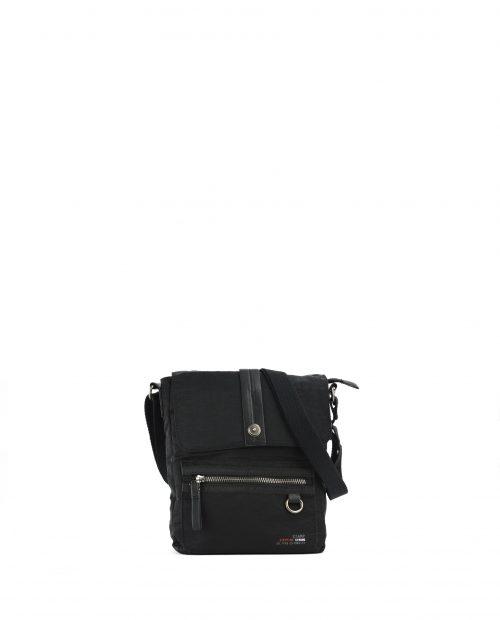 ALTAIR-Bolso bandolera de hombre Stamp en nylon lavado color negro-BHST04953NE-STAMP