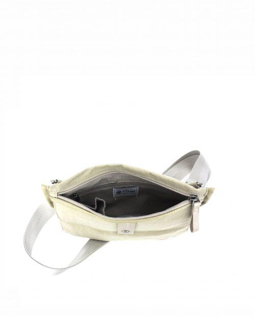 ALTAIR Bolso bandolera de mujer Stamp en nylon lavado color beige BMST04955BE STAMP 2