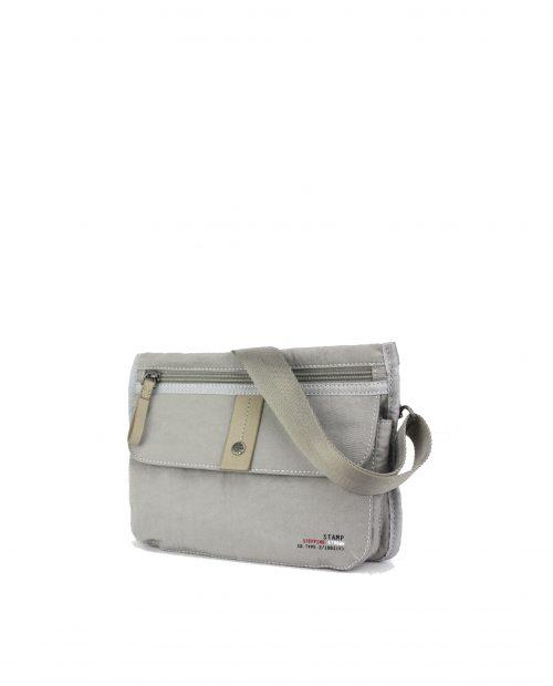 ALTAIR Bolso bandolera de mujer Stamp en nylon lavado color gris BMST04955GR STAMP 1