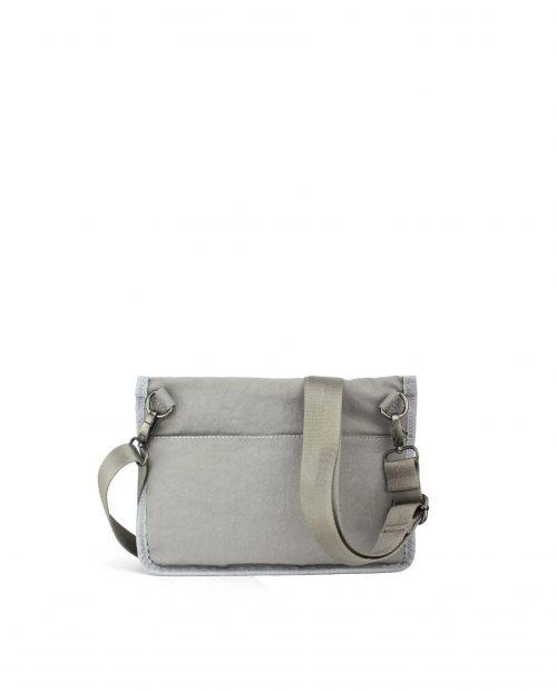 ALTAIR Bolso bandolera de mujer Stamp en nylon lavado color gris BMST04955GR STAMP 2