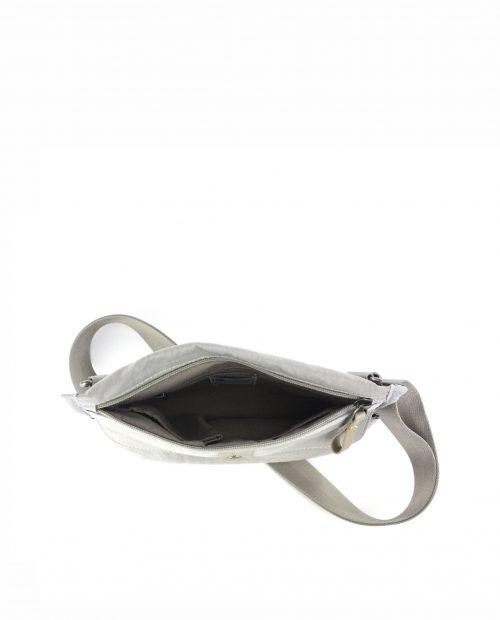ALTAIR Bolso bandolera de mujer Stamp en nylon lavado color gris BMST04955GR STAMP 3
