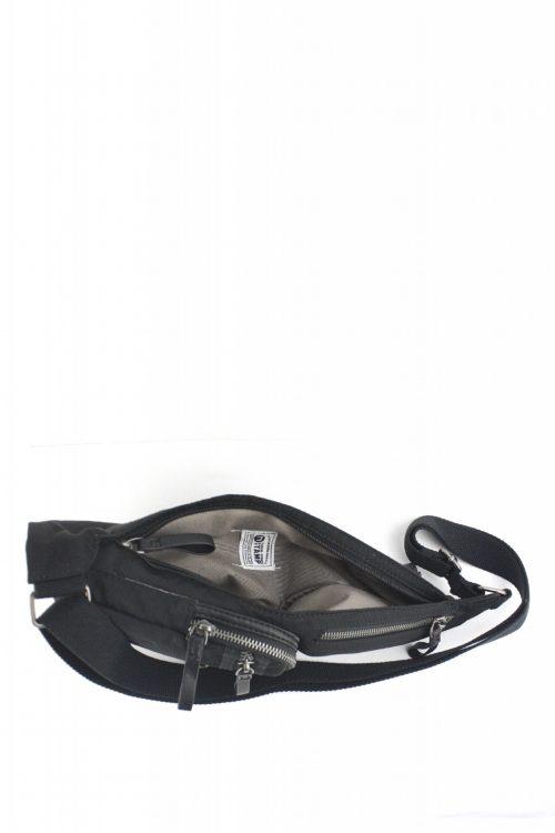 ALTAIR Mochila cruzada unisex Stamp en nylon lavado color negro BHST04951NE STAMP 3