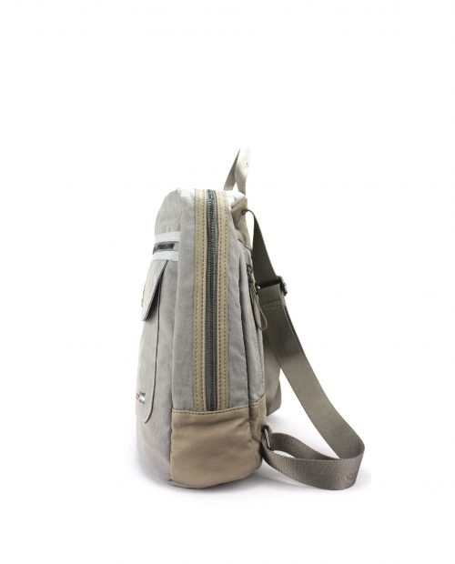 ALTAIR Mochila de mujer Stamp en nylon lavado color gris BMST04958GR STAMP 3
