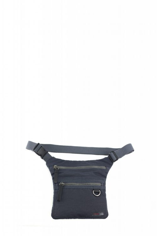 ALTAIR-Riñonera unisex Stamp en nylon lavado color azul-BHST04952AZ-STAMP
