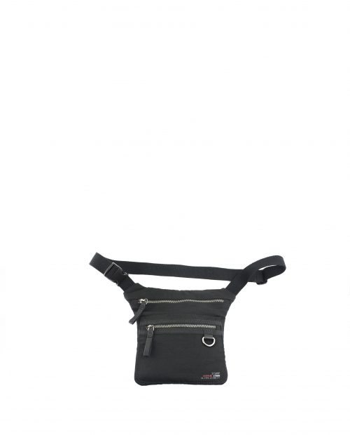 ALTAIR-Riñonera unisex Stamp en nylon lavado color negro-BHST04952NE-STAMP