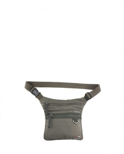 ALTAIR-Riñonera unisex Stamp en nylon lavado color taupe-BHST04952TA-STAMP
