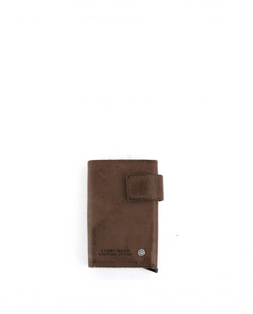 ATLAS-Billetero con tarjetero metálico de piel Stamp color marrón-MHST00418MA-STAMP