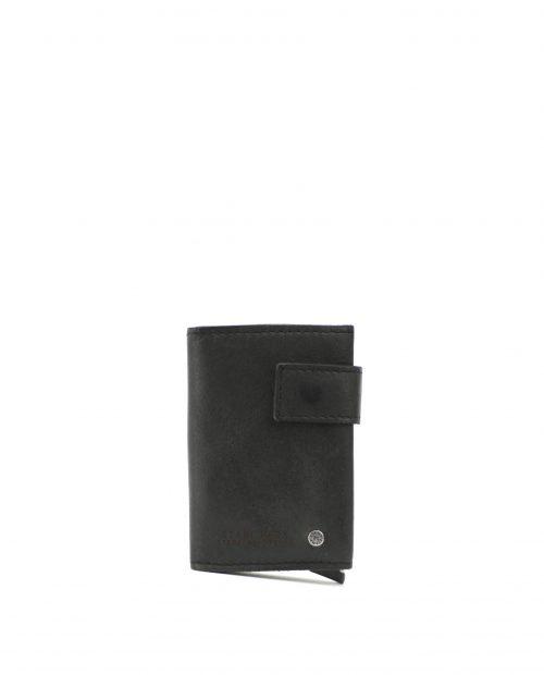 ATLAS-Billetero con tarjetero metálico de piel Stamp color negro-MHST00418NE-STAMP