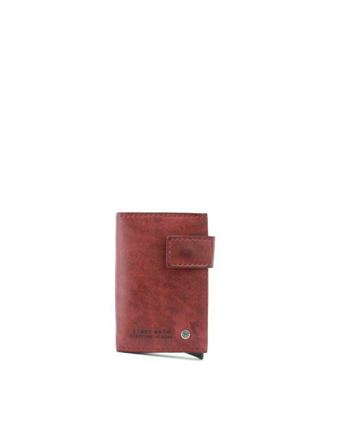 ATLAS-Billetero con tarjetero metálico de piel Stamp color rojo-MHST00418RO-STAMP