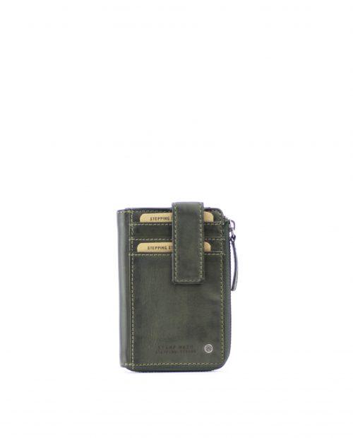ATLAS-Portamonedas tarjetero de piel Stamp color kaki-MHST00043KA-STAMP
