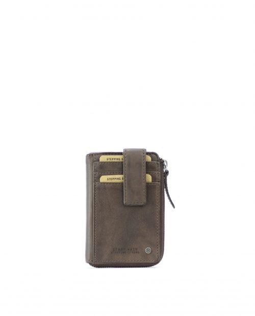 ATLAS-Portamonedas tarjetero de piel Stamp color marrón-MHST00043MA-STAMP